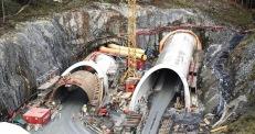 Endalausmarka nord - portalene på Lyshorntunnelen er ferdig støpt