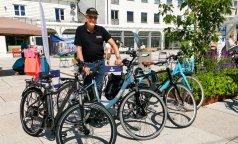 El-sykler kan testes og handles på torget.